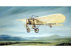 Pre WWI Bleriot Monoplane by Robert Mascher Fine Art Print