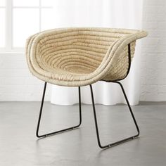 Natural Basket Chair fun chair for a bedroom