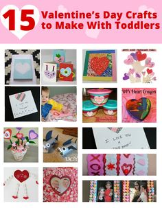 15 fun Valentine's Day crafts you can make with your toddler -handprint canvas, craft foam heart bouquet, heart stamping, etc) Holiday Crafts For Kids, Crafts To Make, Holiday Fun, Fun Crafts, Family Crafts, Valentine Day Love, Valentines Day Party, Valentine Day Crafts, Toddler Crafts