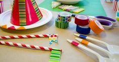 Decorate party hats, straws or even create table decorations for your next Birthday party with Scotch® Expressions Tape.
