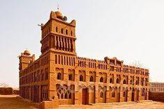 Traditional Mud Brick Mosque; Yaama Village, Tahoa Region, Central Niger | s