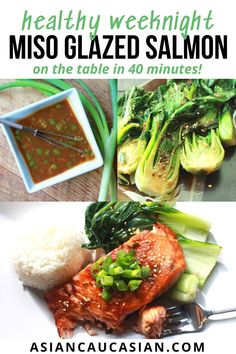 Yes, you can… make this super easy Miso Glazed Salmon! Just marinate and broil in the oven! It's a quick dinner the entire family will love! Look at the glaze on this salmon! It only takes 10 minutes to cook! My recipe for Baby Bok Choy with Ginger and Garlic makes the perfect side dish for this Miso Glazed Salmon! This seafood recipe is perfect for weeknights, Sunday family dinner, and impressive enough for date night! #easysalmonrecipe #easydinnerrecipe #healthyrecipe Healthy Asian Recipes, Asian Dinner Recipes, Easy Salmon Recipes, Seafood Recipes, Baby Food Recipes, Whole Food Recipes, Glazed Salmon, Fusion Food, What's Trending