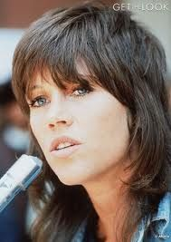 Jane Fonda's shag -1970s hairstyle...not convinced I won't rock this as the hair grows back