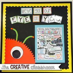 Monster Theme Classroom Reveal - The Creative Classroom Space Theme Classroom, Monster Theme Classroom, Classroom Decor Themes, Classroom Design, Future Classroom, Classroom Organization, Classroom Ideas, Disney Classroom, Classroom Walls