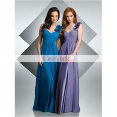 Chiffon Over Satin Bridesmaid / Wedding Party Dress Bridesmaid Dress