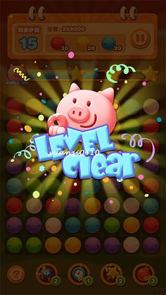 PIG POP on Behance Typo Design, Game Ui Design, Game Gui, Game Icon, Games For Kids, Games To Play, 310 Shake Recipes, Ui Color, Game Effect