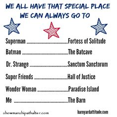 We all have that special place. http://showmanshipathalter.com/