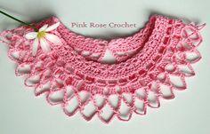 Pink Rose Crochet: Gola Colar May Crochet Collar Pattern, Crochet Yoke, Basic Crochet Stitches, Easy Crochet, Crochet Patterns, Minions Cartoon, Single Crochet Stitch, Crochet Baby Booties, Crochet Videos