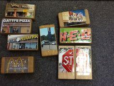 Block Center: Enviromental print puzzles and signs in block center -Kristen Hazard DVISD
