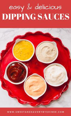 Let me show you how to make 5 incredibly delicious dipping sauces from addicting spicy ketchup sweet and tangy honey mustard sauce, garlic aioli, horseradish mayo sauce and last but not least nutty tahini dip. #howtomakedippingsauces #dippingsaucerecipe #dippingsauceforfries Spicy Aioli, Garlic Aioli, Sauce Recipes, My Recipes, Tahini Dip, Mayo Sauce, Honey Mustard Sauce, Dipping Sauces