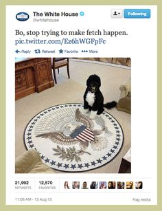 That time The White House publicly shamed Bo.