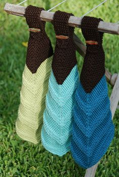 Ravelry: atbixby's Mitered Hand Towels - one of those times when I like what someone else made better than the original