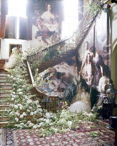 'SOPHIA TONGE X 3', FRANZ XAVER WINTERHALTER. THE EMPRESS EUGéNIE SURROUNDED BY HER LADIES IN WAITING. 1855 GLEMHAM HALL, SUFFOLK, UK, 2010 W MAGAZINE