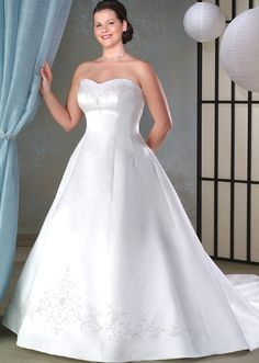 Satin and Organza gown for the plus-size bride...lovely