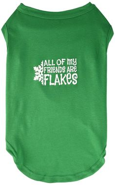 Mirage cat Products 18-Inch All My Friends are Flakes Screen Print Shirts for cats, XX-Large, Emerald Green -- Hurry! Check out this great product : Cat Apparel