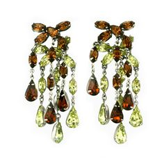 House of Schiaparelli - House of Schiaparelli Topaz and Citrine Chandelier Earclips