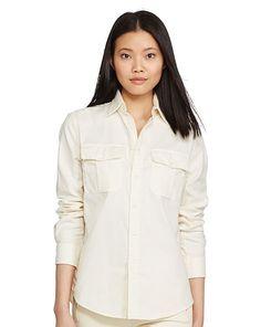 Cotton Twill Military Shirt