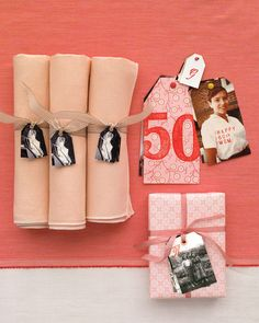 party tags for napkins - 50th anniversary
