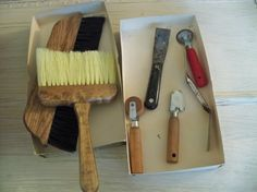 montgomery ward paper hanging tool kit by OldComfortShop on Etsy, $35.00