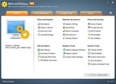 WinUtilities Professional Edition 13.23 Full  Download WinUtilities Professional Edition 13.23 is an award winning collection of tools to optimize and speedup your system performance. This suite contains utilities to clean registry temporary files on your disks erase your application and internet browser history cache and cookies. It also supports to defragment your disk drives and improve computer performance and stability. Built-in StartUp Cleaner allows you to control startup programs…