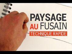 DESSINER UN PAYSAGE AU FUSAIN : TECHNIQUE RAPIDE | Apprendre à dessiner avec Dessin Création