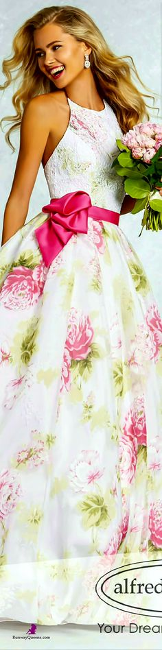 Alfred Angelo, Fashion 2017, Floral pattern, pink
