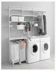 Small LAUNDRY ROOM Design Having a small laundry room in your home can be more of a challenge to keep super organized, functi Ikea Laundry Room, Small Laundry Rooms, Laundry Room Organization, Laundry Room Design, Ikea Algot, Cupboard Design, Home Interior, Home Decor, Challenge