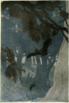 Charles Livingston Bull, 1913-Illustration for Folks of the Wood