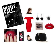 """""""The Bold Babe"""" by sumaanaulikh on Polyvore featuring Christian Louboutin, Jennifer Behr, Bling Jewelry, Posh Girl, Kendra Scott, Lime Crime and Serpui"""