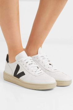 reputable site 8a486 aa70d Veja V-10 Leather Sneakers - White VejaLeatherWhite Shoe Puns