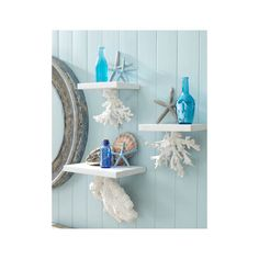 Coastal, Beach + Nautical Decor + Interiors, Driftwood + Shell Decor, Crafts, Art + more found on Polyvore