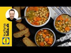 Cícerová polievka 🥣 | Martin Pyco Rausch | Kuchyňa Lidla - YouTube Chana Masala, Soup, Lunch, Ethnic Recipes, Youtube, Fit, Lunches, Soups, Soup Appetizers