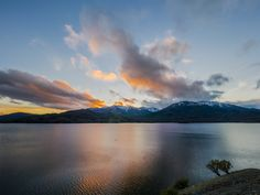 Tonights Sunset over Whiskeytown Lake in Northern California and Snow-Capped Mountains was gorgeous. [OC][25001875] #reddit