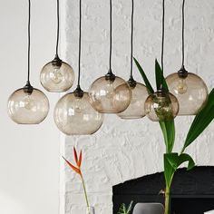 Glass Orb Chandelier - Luster