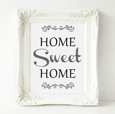 Home Sweet Home Sign Vintage Style Wall Art by OrchardBerry