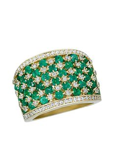 SEE DETAILS HERE: Effy Jewelry Gemma Emerald and Diamond Ring, 2.84 TCW