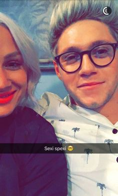 Lou teasdale and niall horan snapchat 2015
