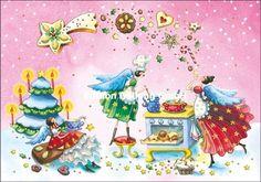 Doppelkarte Grußkarte * Nina Chen * Engel backen Lebkuchen Gebäck Weihnachten in Business & Industrie, Großhandel & Sonderposten, Büro- & Schreibwaren (Posten) | eBay