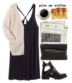 """Morning coffee @ cafe"" by fashxo ❤ liked on Polyvore featuring H&M, Zara, Marie Turnor, Toast and Acne Studios"