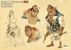 Pirate Character from Character Design Page http://www.characterdesignpage.com/1/post/2012/11/christophe-zb-lourdelet.html