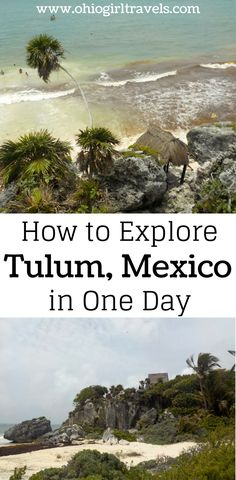 If you're staying in Cancun and looking to venture out of the city, a day trip to Tulum is perfect! We went on an amazing tour that included Mayan ruins, beautiful Mexican beaches, zip lining in the jungle, and rappelling! It's the experience of a lifetime and will be a trip you will never forget. Don't forget to save this to your travel board!