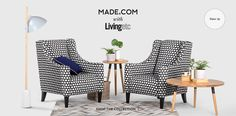 Made with Living Etc Juke Chairs