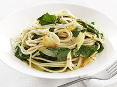 Garlic-and-Greens Spaghetti from FoodNetwork.com