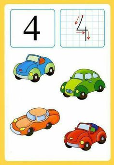 Preschool and toddler crafts,projects and activities - Part 46 Number Flashcards, Flashcards For Kids, Kids Math Worksheets, Math Numbers, Math For Kids, Lessons For Kids, Fun Math, Math Lessons, Kindergarten Projects