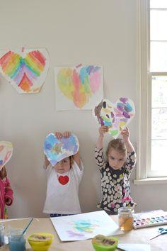 Puffy heart art project