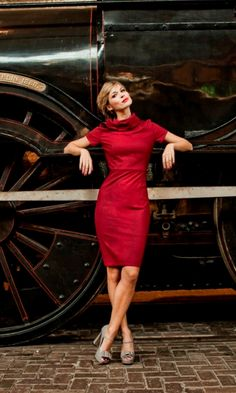 Red Vintage-Style Dress