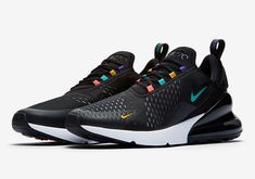 The Nike Air Max 270 Appears With Multi colored Lace Eyelets