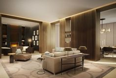 Four Seasons Residential Opportunities: Family room of Four Seasons Private Residences Delhi NCR in India Living Room Modern, Home Living Room, Living Spaces, Luxury Apartments, Luxury Homes, Hotel Lounge, Lounge Areas, Small Rooms, Interior Architecture