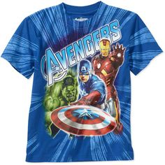 Marvel Boys Avengers Shield Graphic Tee $6.97