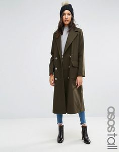 ASOS Tall | ASOS TALL Coat with Oversized Styling